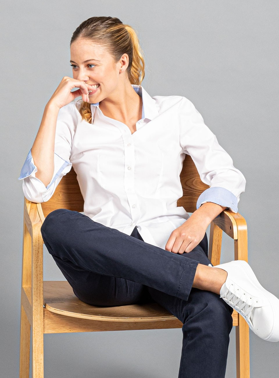 Bradford Fine Oxford Long Sleeve Shirt - Women