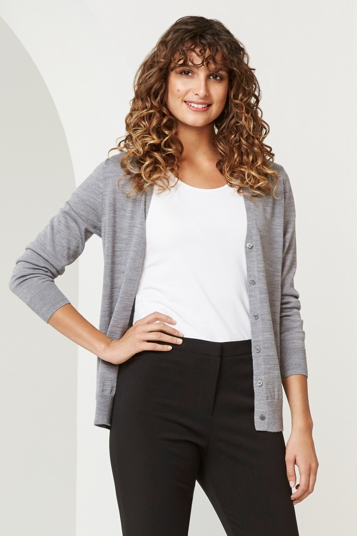 Ladies Roma 50% Merino Knit Cardigan