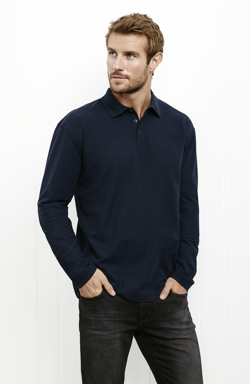 Crew Mens Long Sleeve Polo