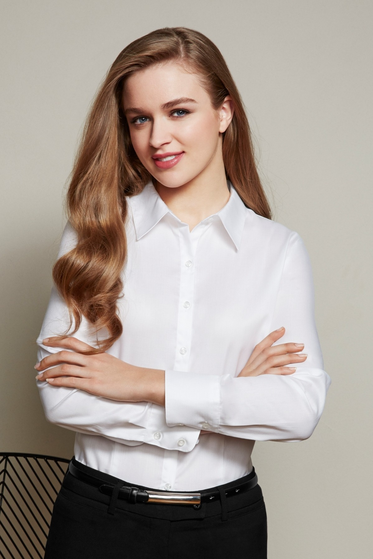 Ladies Long Sleeve Luxe Cotton Shirt