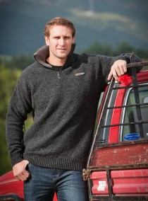 Tasman 36.6 Zip and Collar Sweater - MKM logo