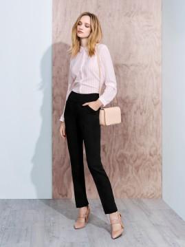 Ladies Bandless, Side Zip  Slim Leg Pant - Cool Stretch