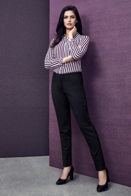 Ladies Slim Fit Pant - Wool Stretch