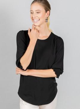Lola 3/4 Sleeve Shirred Cuff Top