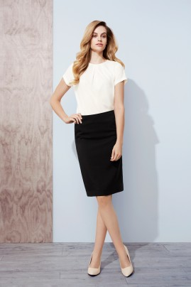 Bandless Lined Skirt - Polyester/Bamboo Cool Stretch