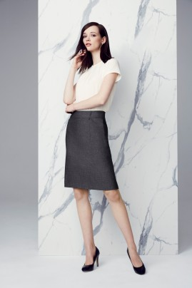 Rococo Back Pleat Textured Grey Skirt