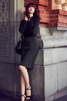 Ladies Siena Bandless Pencil Skirt