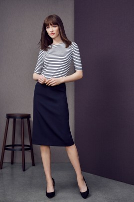 Relaxed Fit Skirt - Wool Stretch