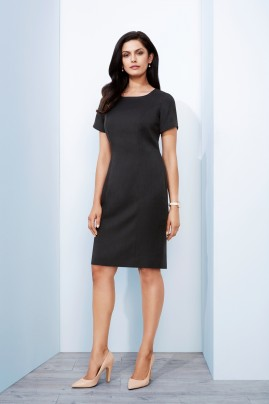 Ladies Short Sleeve Shift Dress - Cool Stretch - BIZ Corporates
