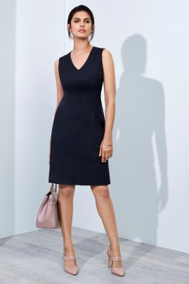 Ladies Sleeveless V Neck Dress - Cool Stretch - BIZ Corporates