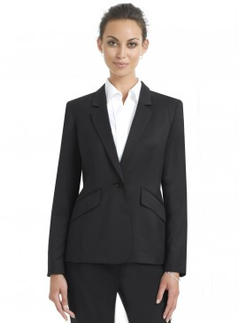 Black Classic One Button Jacket