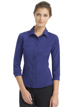 3/4 Sleeve Collared Blouse
