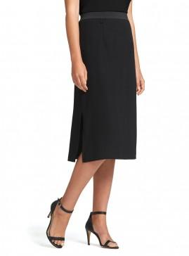 Skirt with Side Splits on Elastic Waistband