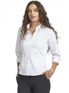 Women's White 3/4 Sleeve Shirt