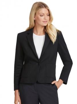 Women's Collared Single Button Jacket