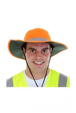 HI VIZ Safety Slouch Hat