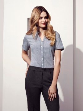 Ladies Bordeaux Short Sleeve Shirt (Deleted colours)