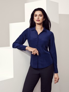 CLEARANCE - Ladies Solanda Plain Long Sleeve Shirt