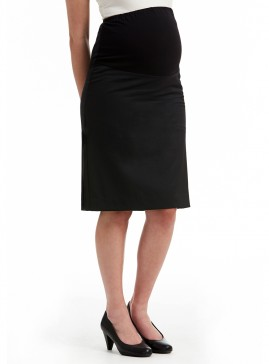 Maternity Straight Skirt with Knit Basque