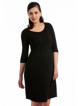 Maternity Mock Crossover Dress