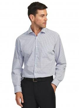 Dark Grey/White Windowpane Check Tailored Shirt