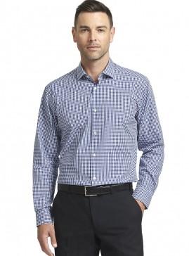 Blue/White/Black Square Check Tailored Shirt