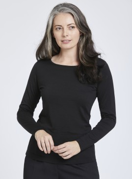 Merino Long Sleeve Scoop Neck Top
