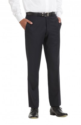 CLEARANCE - Men's Navy Tailored Plain Front Wool Rich Trousers