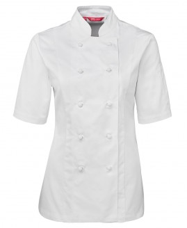 Ladies Short Sleeve Chef Jacket