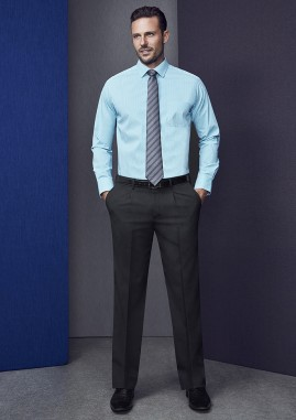 SPECIAL - Mens  Single Pleat Pants - Wool Stretch BIZ Corporates