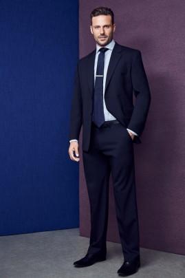 Mens Plain Front Pants - Wool Stretch BIZ Corporates