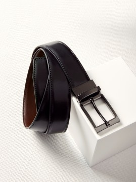 Mens Leather Reversible Belt