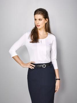 Ladies Abby 3/4 Sleeve Knit Top - Advatex Cool