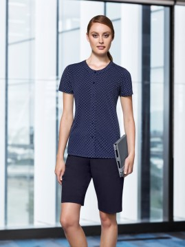 END OF LINE SPECIAL - Advatex Ladies Leah Button Knit Top