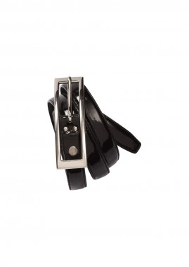 Ladies Semi-Patent Buckle Belt