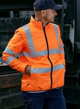 Taped Hi Vis Reversible Puffer Jacket