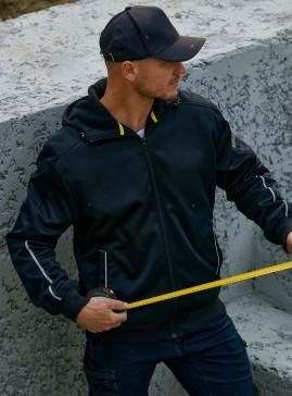 Work Fleece Zip-Front Hoodie With Sherpa Lining