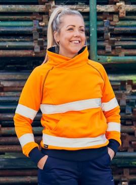 Women's Taped Hi Vis Fleece Jumper