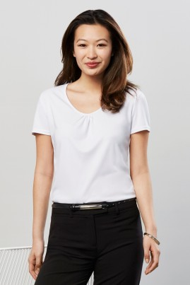 Chic Short Sleeve Knit Top