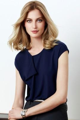 Mia Ladies Pleat Soft Jersey Knit Top