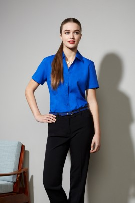 Ladies Short Sleeve Oasis Plain Shirt