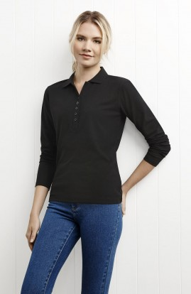 Crew Ladies Long Sleeve Polo