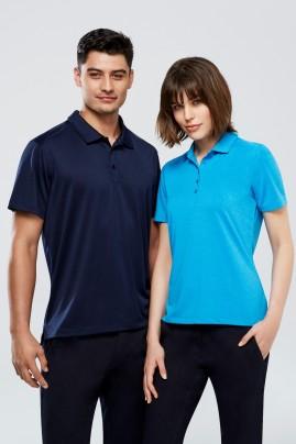 Mens Aero BIZ COOL Cotton-feel Polo Shirt