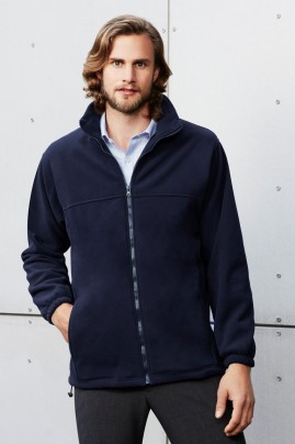 Mens Plain Microfleece Jacket