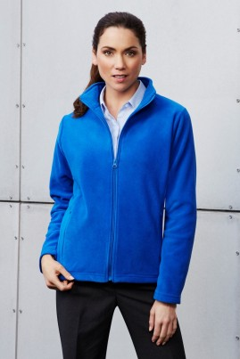 Ladies Plain Microfleece Jacket
