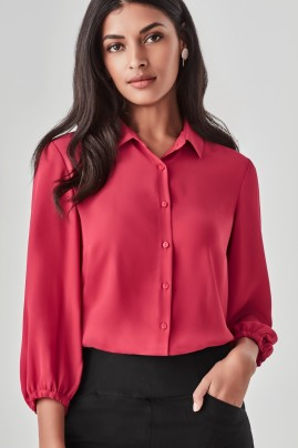 Women's Lucy Elastic Cuff, 3/4 Sleeve Blouse