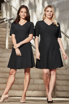 Siena Short Sleeve Midi Flared Dress