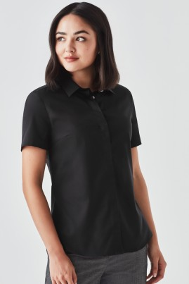 Women's Charlie Short Sleeve Button to Neck Shirt