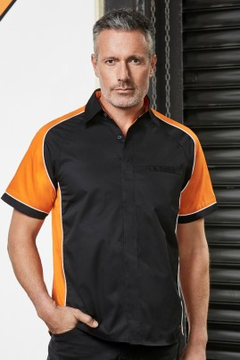Mens Nitro Contrast Panel Shirt