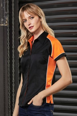 Ladies Nitro Contrast Panel Short Sleeve Shirt